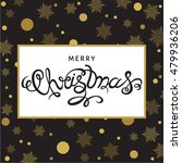 christmas  greeting  card. hand ... | Shutterstock .eps vector #479936206