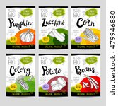 set of colorful stickers in... | Shutterstock .eps vector #479946880