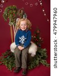 Small photo of Happy Christmas Child: Holiday, x-mas setting