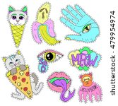 patch badges  pin badges or... | Shutterstock .eps vector #479954974