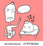 boring school teacher  despite... | Shutterstock .eps vector #479958484