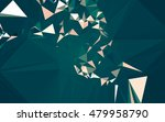 abstract low poly background ... | Shutterstock . vector #479958790