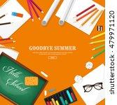 back to school. vector... | Shutterstock .eps vector #479971120