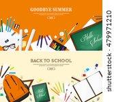 back to school. vector... | Shutterstock .eps vector #479971210