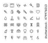 set of medical icons in modern... | Shutterstock .eps vector #479976013