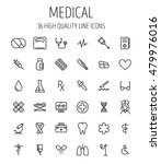 set of medical icons in modern... | Shutterstock .eps vector #479976016