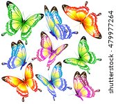 color butterflies isolated on a ... | Shutterstock .eps vector #479977264