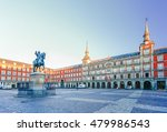 Morning Light at Plaza Mayor in Madrid , Spain