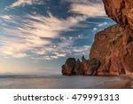 rocky beach in the morning sun  | Shutterstock . vector #479991313