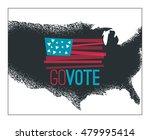 go vote illustration  primitive ...   Shutterstock .eps vector #479995414