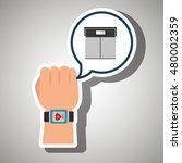 hand sport cardio | Shutterstock .eps vector #480002359