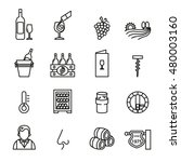 wine related vector icons set   ... | Shutterstock .eps vector #480003160