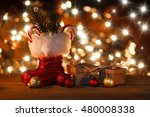 christmas background with... | Shutterstock . vector #480008338