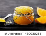 orange body scrub with sugar... | Shutterstock . vector #480030256