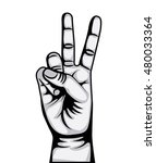 hand peace and love symbol... | Shutterstock .eps vector #480033364