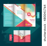 trifold medical brochure design ... | Shutterstock .eps vector #480041764