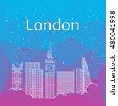 london for banner  poster ... | Shutterstock .eps vector #480041998