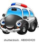 cartoon police car character.... | Shutterstock .eps vector #480043420