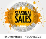 seasonal sales words cloud ... | Shutterstock .eps vector #480046123
