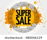 super sale words cloud ... | Shutterstock .eps vector #480046129