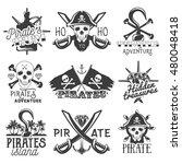 vector set of pirates logo ... | Shutterstock .eps vector #480048418