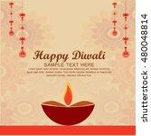 happy diwali illustration ... | Shutterstock .eps vector #480048814