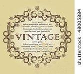 vector   vintage frame. | Shutterstock .eps vector #48005884