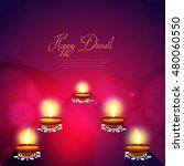 happy diwali illustration ... | Shutterstock .eps vector #480060550