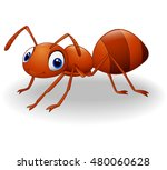 cute ant cartoon.vector... | Shutterstock .eps vector #480060628