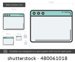 web window vector line icon... | Shutterstock .eps vector #480061018