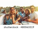 group of friends hanging out... | Shutterstock . vector #480063319