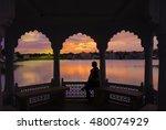Sunset Over Pushkar Lake  Seen...
