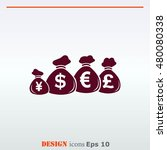 money icon  finance icon ... | Shutterstock .eps vector #480080338