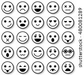 set of emoticons. set of emoji. ... | Shutterstock . vector #480081289