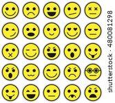 set of emoticons. set of emoji. ... | Shutterstock . vector #480081298