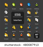 color icons set in flat... | Shutterstock .eps vector #480087913