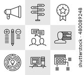 set of project management icons ... | Shutterstock .eps vector #480089248