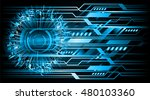future technology  blue eye...   Shutterstock .eps vector #480103360