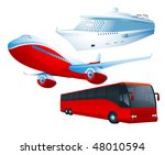 travel transportation set.... | Shutterstock .eps vector #48010594