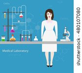medical laboratory scientist.... | Shutterstock . vector #480107080