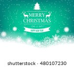 christmas background with retro ... | Shutterstock .eps vector #480107230