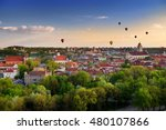 beautiful summer panorama of... | Shutterstock . vector #480107866