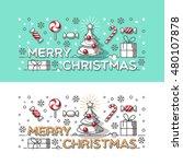 merry christmas outline style...   Shutterstock .eps vector #480107878