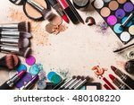 different makeup products  | Shutterstock . vector #480108220