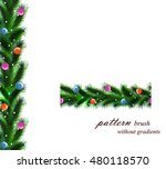 festive christmas tree.... | Shutterstock .eps vector #480118570