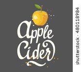 vector illustration with apple... | Shutterstock .eps vector #480118984