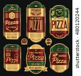 set of vintage styled golden... | Shutterstock .eps vector #480120244