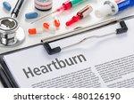 the diagnosis heartburn written ...   Shutterstock . vector #480126190