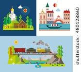 modern flat design conceptual... | Shutterstock .eps vector #480128860