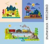 modern flat design conceptual... | Shutterstock .eps vector #480128863